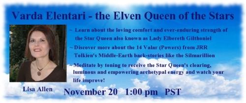 ElvenSpirituality.com AstroHerbalist.com GuardianGateway.com Varda Elentari Elven Queen of the Stars Lady Elbereth Gilthoniel